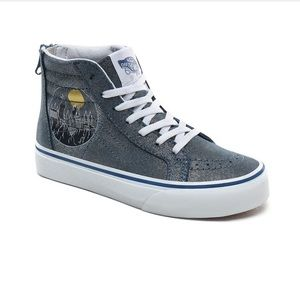 Harry Potter Vans Hogwarts SK8-Hi Zip Shoes blue